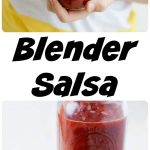 Looking for an easy salsa recipe? One that tastes just as good as those you enjoy in restaurants? This Easy Blender salsa, requires minimal chopping, your blender does all the work!