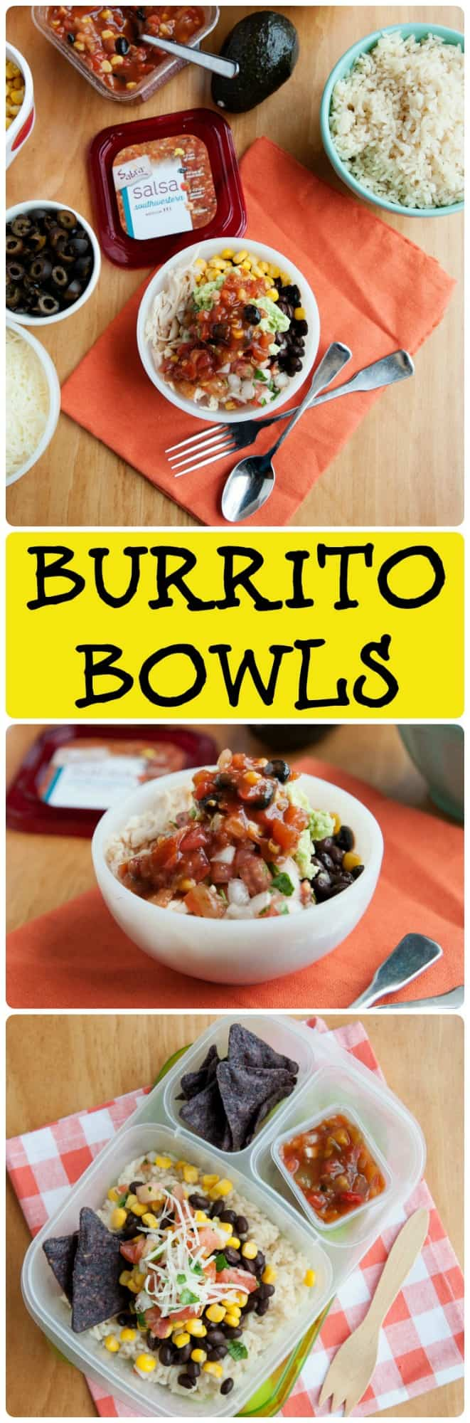 The idea of a burrito bowl isn't new, but packing these Lunchbox Burrito Bowls are sure to get your kids excited about eating lunch!