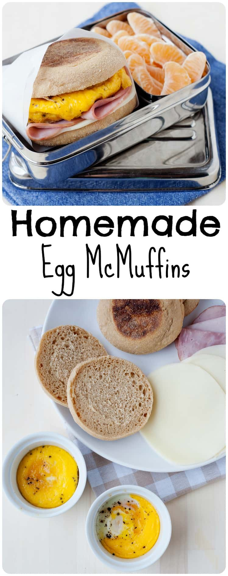 Looking to make your favorite 'out to eat' breakfast sandwich at home? MOMables has got you covered with this easy, make ahead Homemade Egg McMuffin!