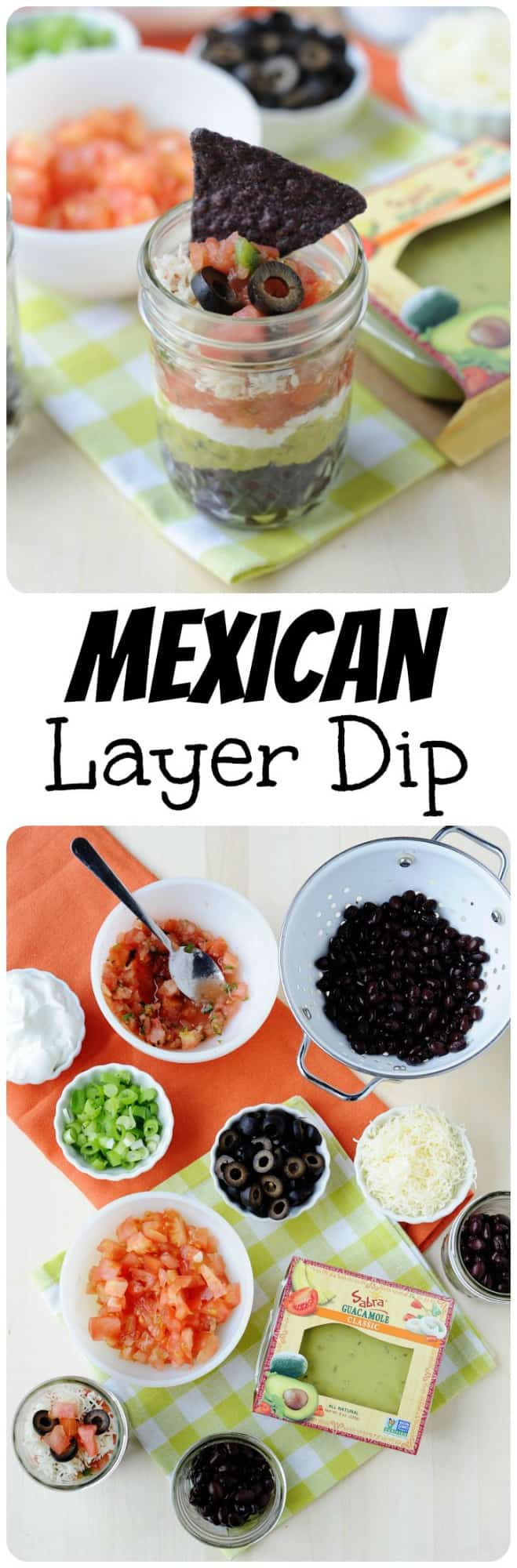 Easy to make and perfectly portioned, these 7 Layer Mexican Dip Cups are a delicious healthy snack!