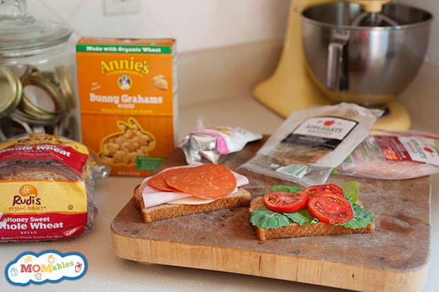 building a lunchbox on the counter is easy with fresh ingredients