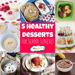 5 Healthy Desserts for School Lunches