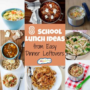 8 School lunch Ideas from Easy Dinner Leftovers - MOMables.com - Make packing for lunch easier by using these easy weeknight dinner recipes as leftovers!