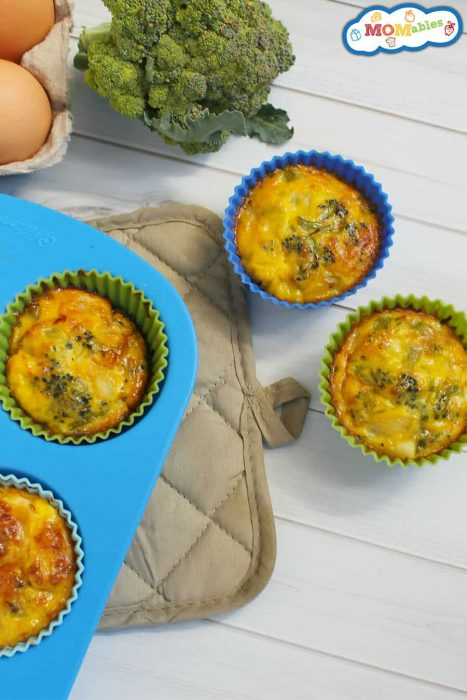 Crustless Broccoli and Cheddar Quiche Muffins - MOMables.com - 7 Gluten-Free Lunch Ideas for School