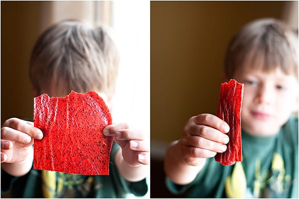 homemade fruit roll-ups are a great nut free snack for the classroom