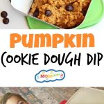 This Pumpkin Cookie Dough Dip is a tasty, nutritious dip that kids will love to dip fruit in, or just eat plain by the spoonful!