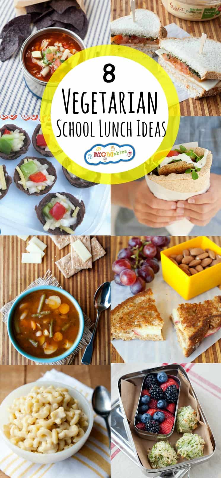 8 vegetarian school lunch ideas - momables