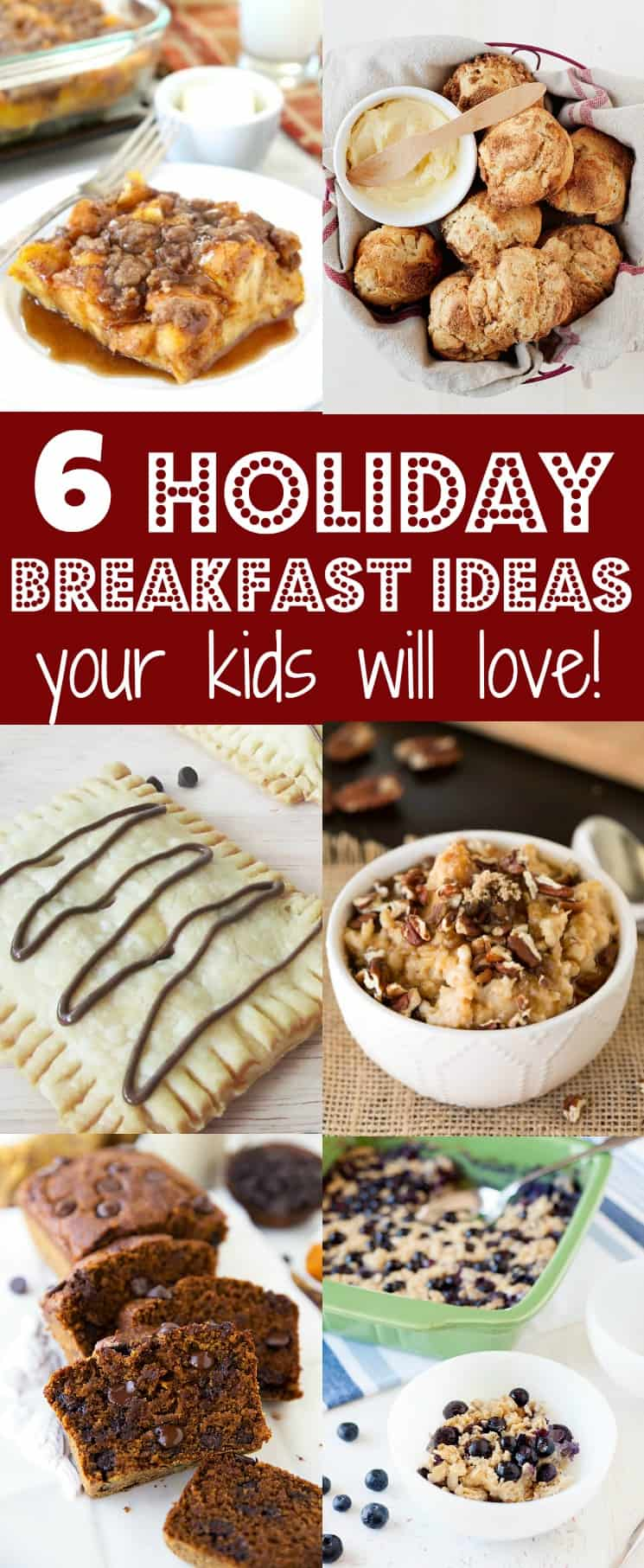 Leave room this holiday season for these 6 holiday breakfast recipes! They're delicious and indulgent, perfect for Thanksgiving or Christmas morning.