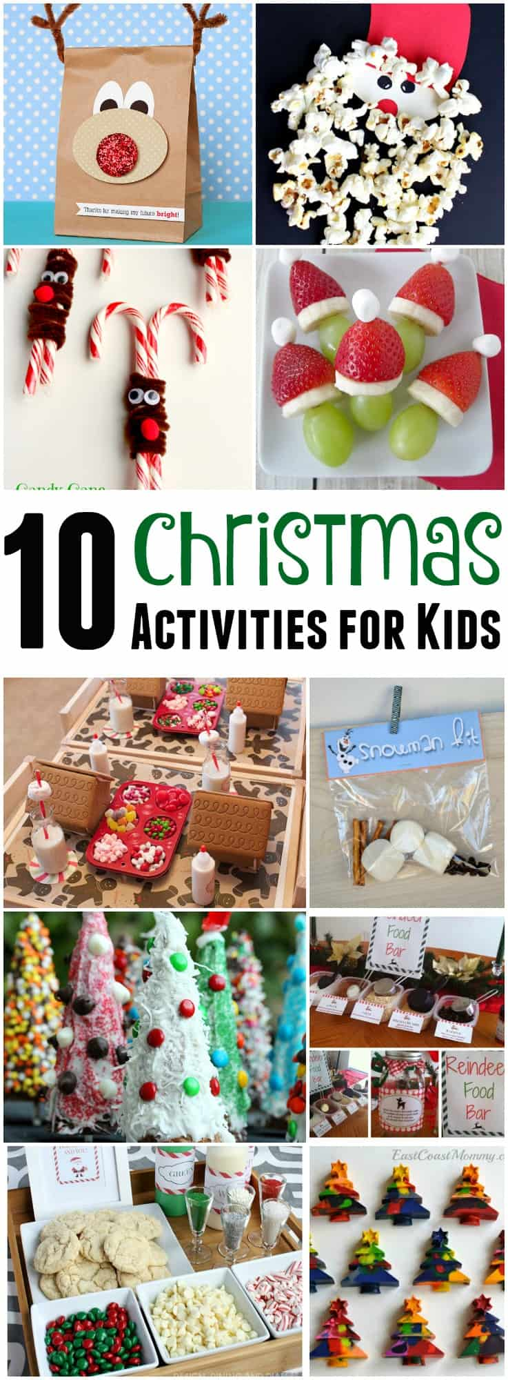 Do your kids get bored during the holiday break? Here's 10 fun Christmas activities for kids that will keep them busy while they use their creativity!