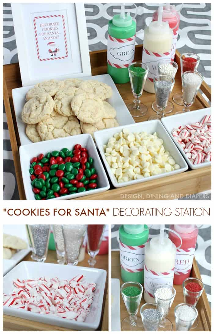 Cookies-For-Santa-Decorating-Station-Great-party-activity-for-kids-and- adults.-