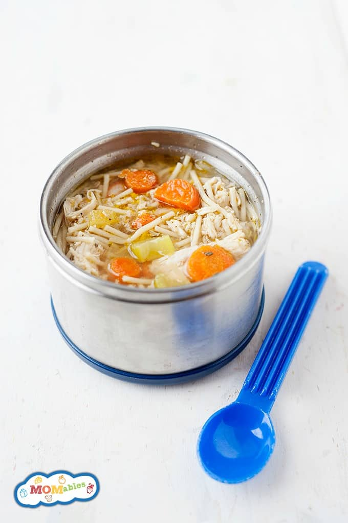 Warm up with this classic Crockpot Chicken Noodle Soup! Let the Crockpot do the work and come home to dinner that's already done. Easy and delicious!