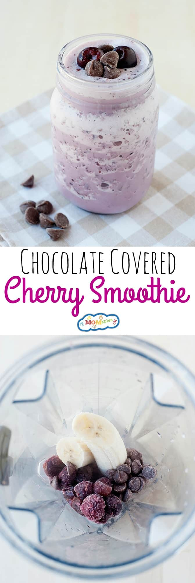 Looking for a delicious smoothie your kids will love? This Chocolate Covered Cherry Smoothie is full of fruity flavor, plus it's easy to make!