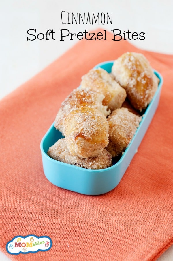 One bite into this Cinnamon Soft Pretzel Bites recipe and your kids will never want another snack again! They're way better than any pretzel at the mall.
