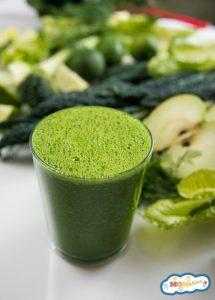 Healthy Shamrock Green Smoothie for Kids
