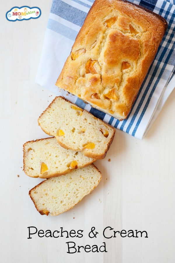 This Peaches and Cream Bread is one that's hard to keep around! You might want to bake two – don't say I didn't warn you.
