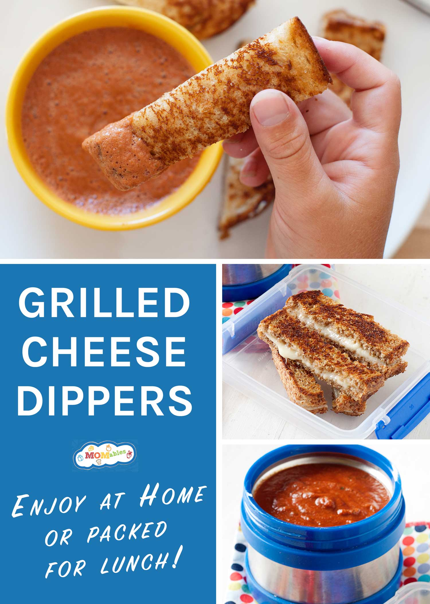 grilled cheese dippers image collage