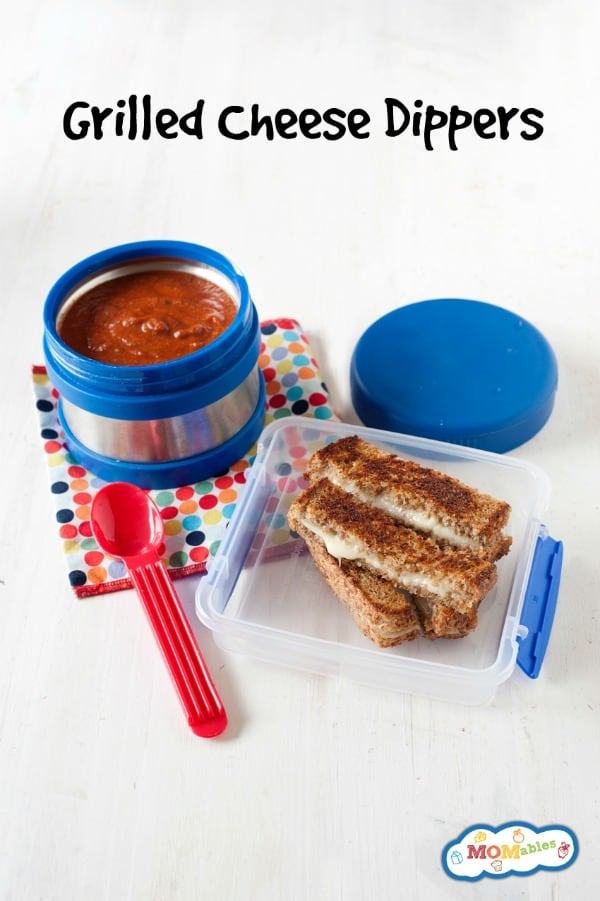 A fun twist on a classic sandwich! Your kids will love these Grilled Cheese Dippers for lunch, especially paired with warm tomato soup.