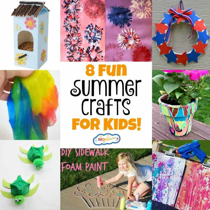 Keep your kids entertained this summer with these 8 fun summer crafts for kids! From paper crafts to squirt guns, they'll never be bored.