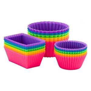 Ipow Silicone Cupcake Baking Muffin Cups Liners
