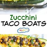 These Zucchini Taco Boats are a healthy way to shake up taco night! All the flavors of tacos packed with extra veggies. Gluten-free & vegetarian-friendly!