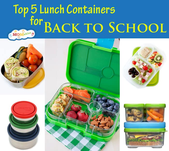 Top Five Lunch Containers to send your kids lunch Back to School in!
