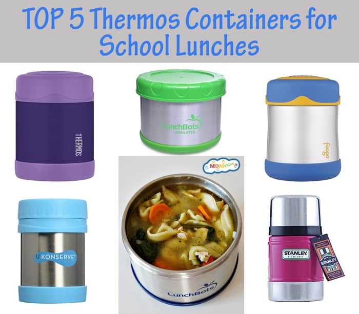 top 5 thermos containers for school lunches. No leaks, hold the temperature, and age appropriate!