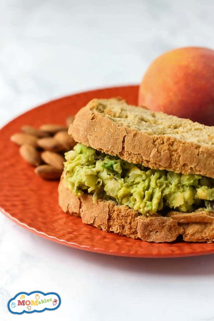 Avocado adds lots of creaminess and nutrition to this vegetarian & gluten-free Avocado Egg Salad Sandwich! It's great for a healthy school or work lunch.