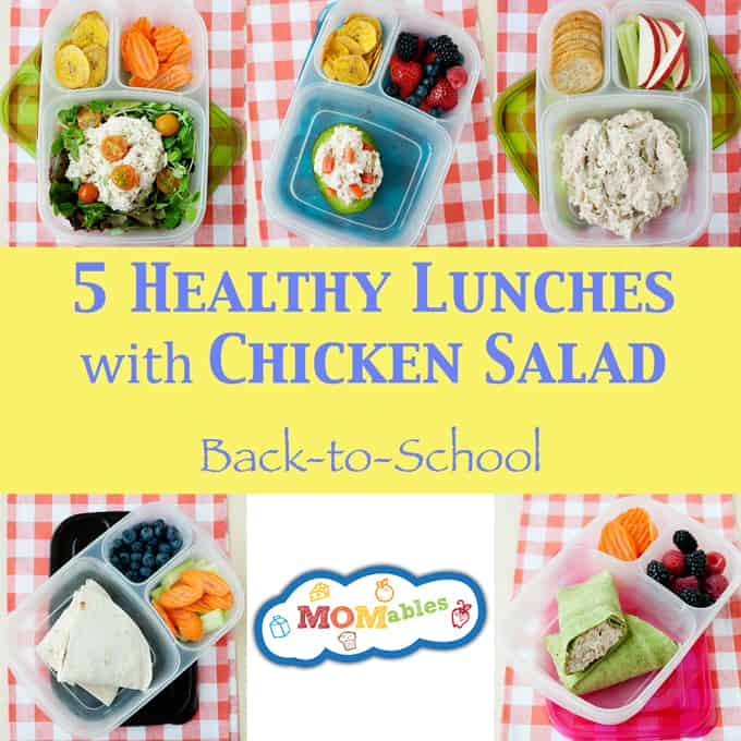 5 Healthy School and Office Lunches using Chicken Salad: Keep lunch interesting all week long with 5 fresh ways to use chicken salad in your lunchbox.