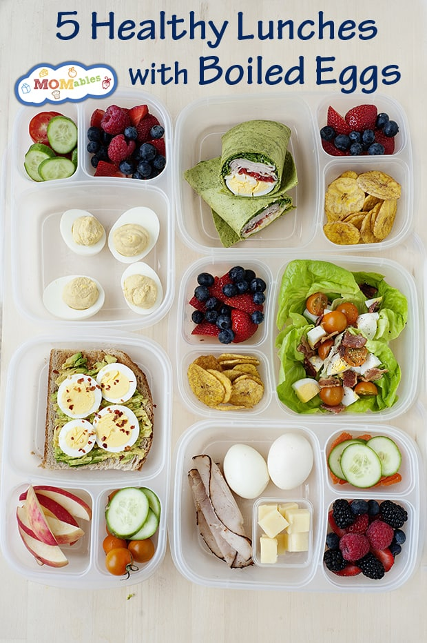 Healthy Lunch Ideas with Boiled Eggs: great lunch ideas for back-to-school and the office to add some extra protein.