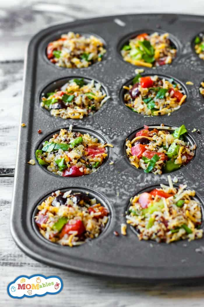 Pack a few Mini Quinoa Pizza Bites in your kid's lunch box for a healthy, gluten-free meal they will love! Full of pizza flavor & easy to prepare.