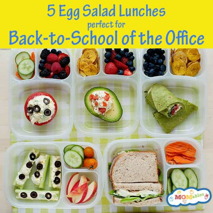healthy school and office lunch ideas with egg salad