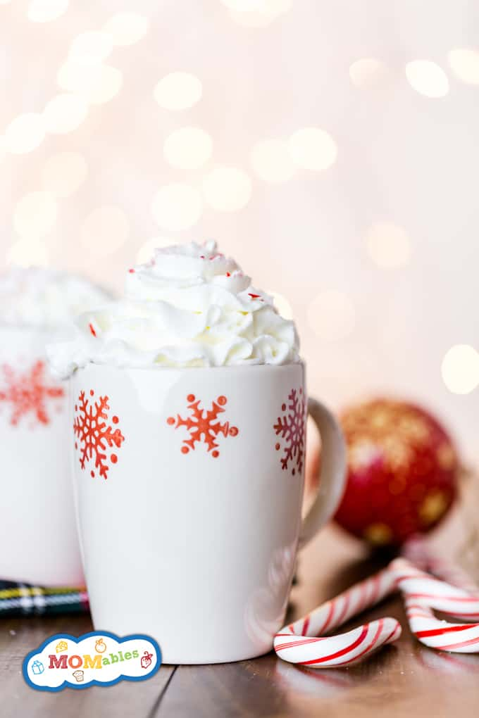 Peppermint Hot Chocolate: The perfect Holiday treat, homemade, delicious and warm with the peppermint flavors you love.
