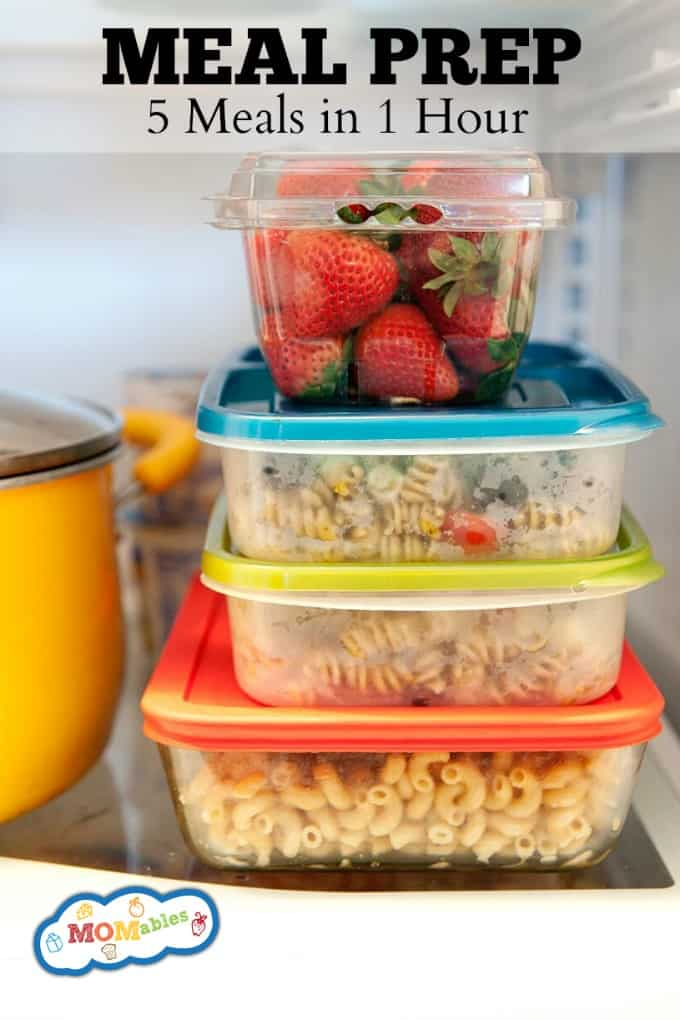 Meal Prep: How to prep 5 meals for the week in just 1 hour!