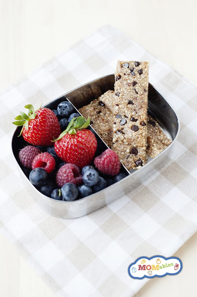 Healthy Lunchbox Chocolate Chip Cookie Dough Snack Bars