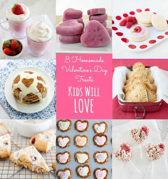 Homemade Valentine's Day Treats Kids Will Love - Easy DIY recipes that are perfect for the classroom and at home.