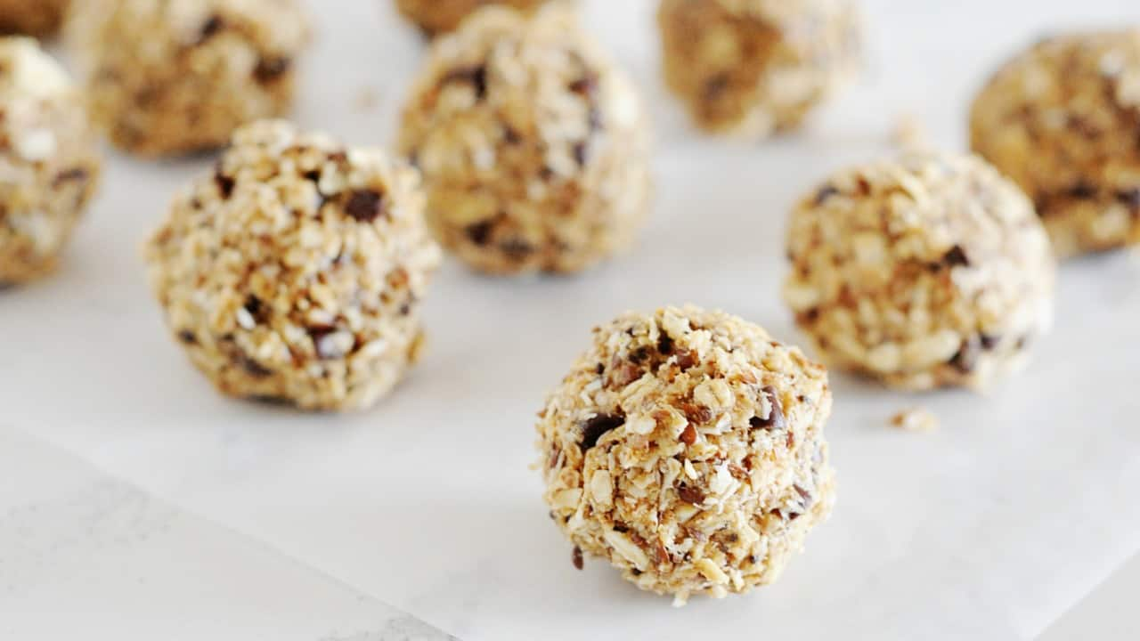 They taste like an oatmeal raisin cookie but are bite size and good for you!