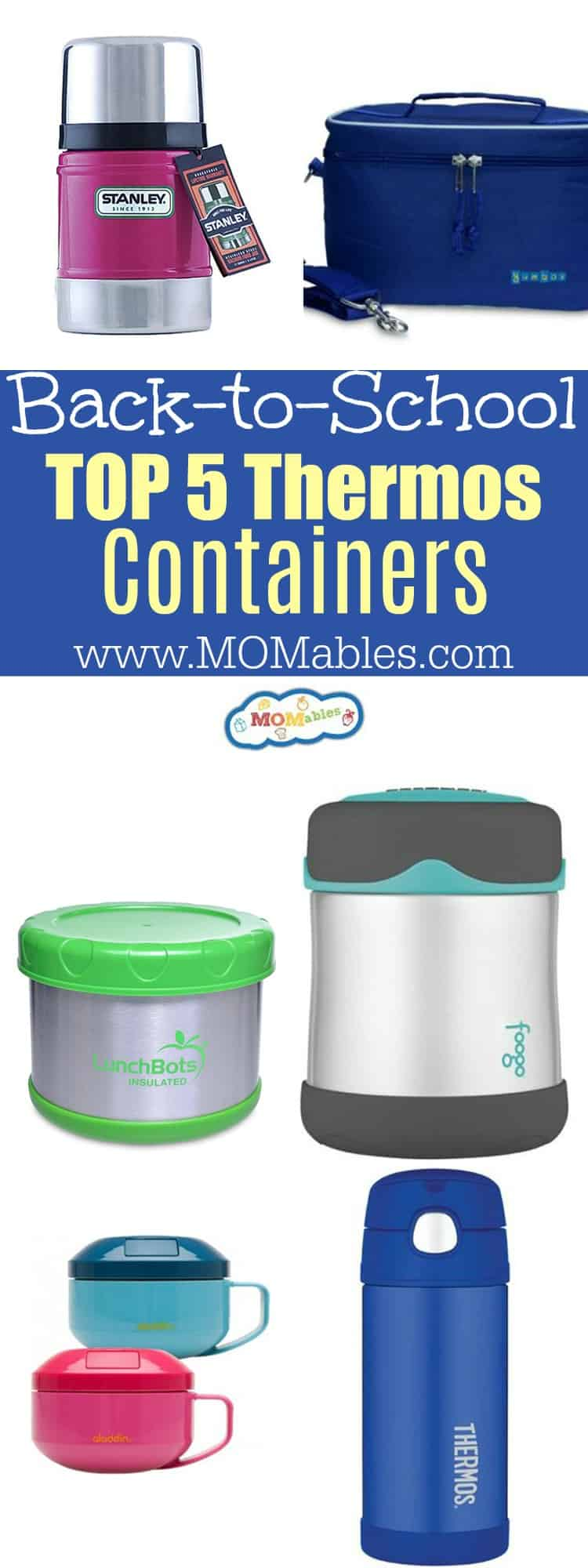 Top 5 Thermos Containers for school lunches. No leaks, hold the temperature, and age appropriate! #BacktoSchool