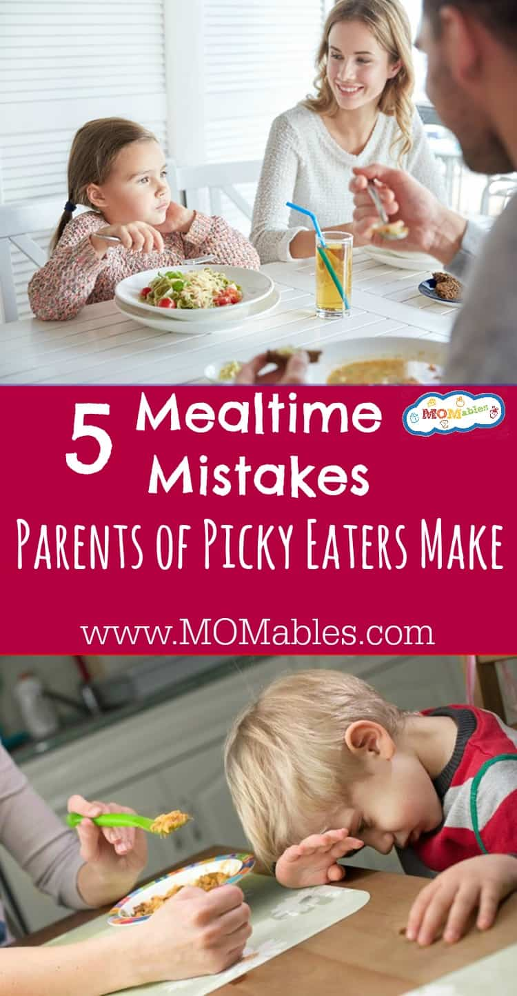 Are you creating a Picky Eater? Check out these 5 Mealtime Mistakes Parents Make. Remember, you are not alone in the meal time struggle.