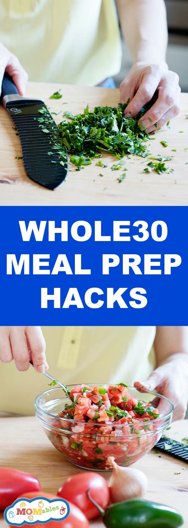 Whole 30 Meal Prep Hacks to help you spend less time in the kitchen and make mealtimes easier