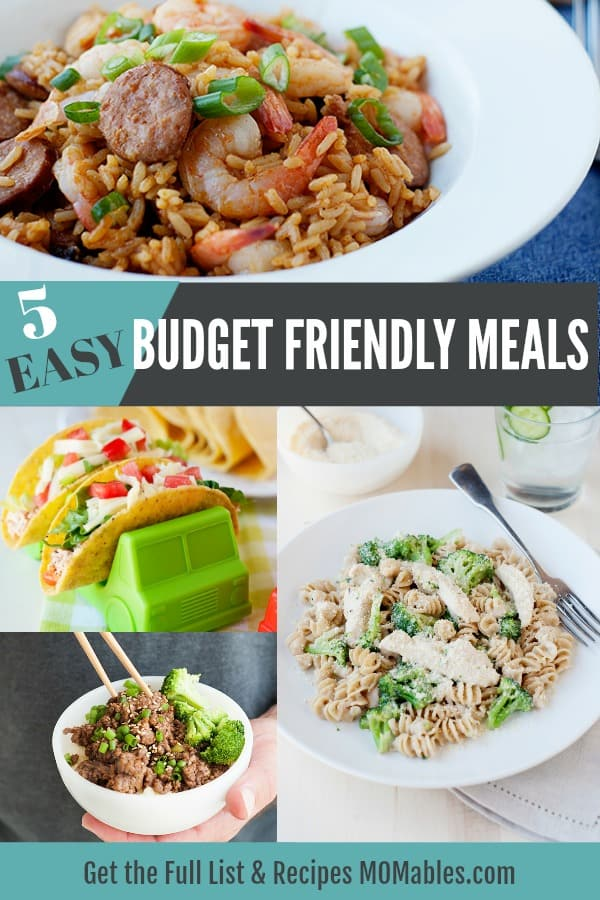Easy, healthy, and delicious budget-friendly dinners perfect for any family on a budget! All five dinners cost no more than $50 and made with whole, fresh foods!