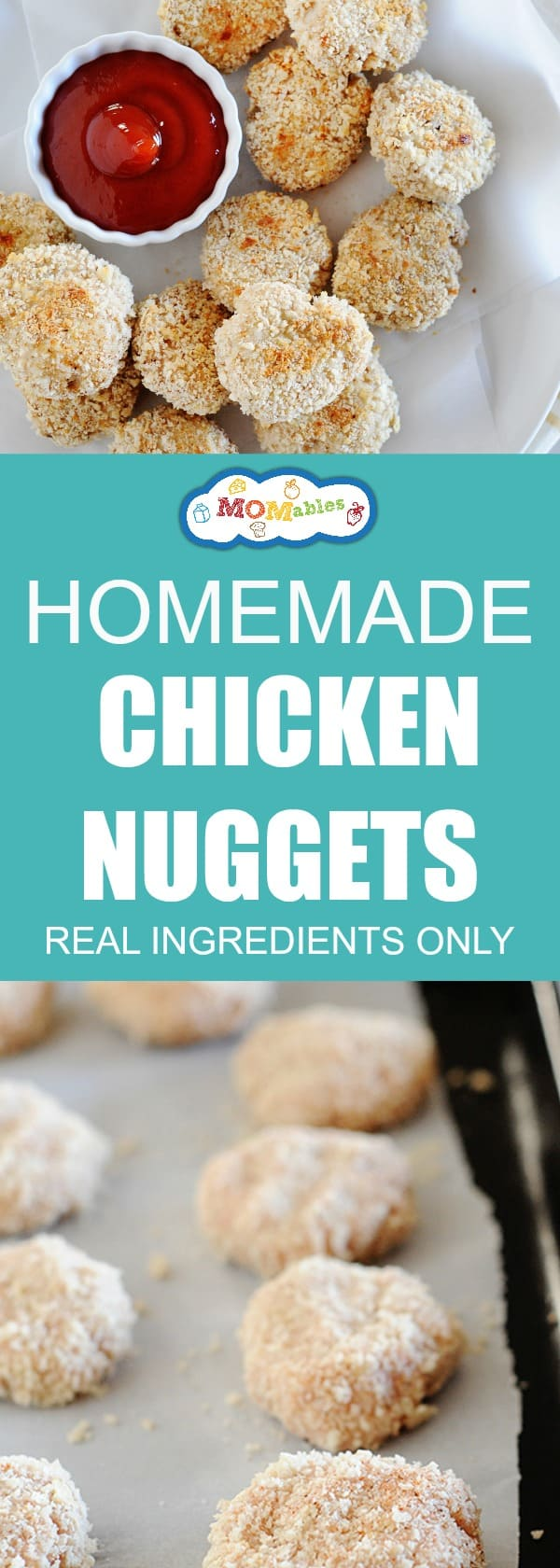 Chicken Nuggets get real a makeover. This recipe uses fresh ingredients to recreate the #1 food kids love! It's a copy-cat McDonald's Chicken nuggets recipe made at home.
