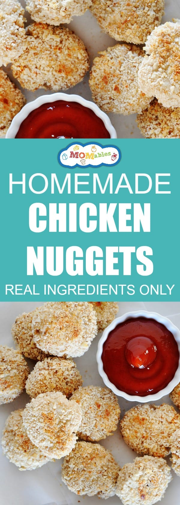 Chicken Nuggets get real a makeover. This recipe uses fresh ingredients to recreate the #1 food kids love!