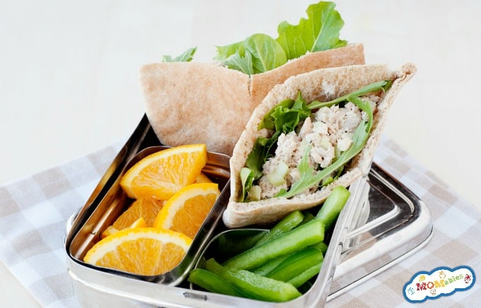 salmon salad pita lunch