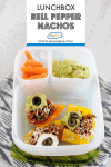 bell pepper nachos in a lunchbox container
