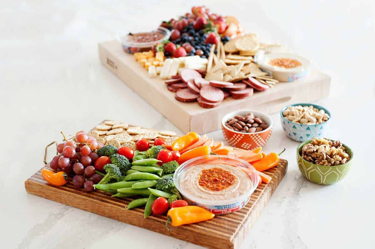 Easy to put together snacking trays!