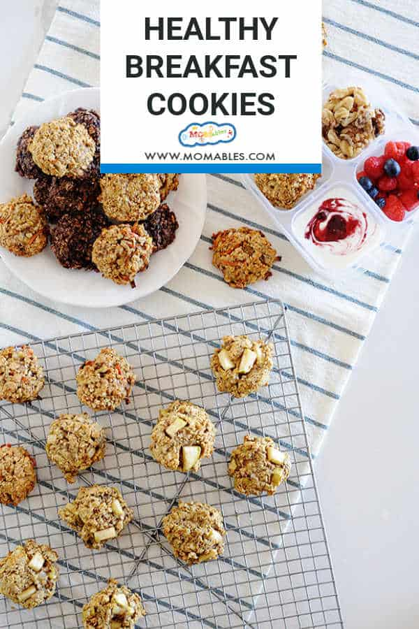 Three Healthy Breakfast Cookie Recipes
