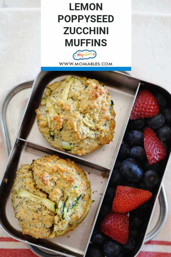 Healthy Lemon Poppyseed Zucchini Muffins are a great mid-week snack and a hit with kids! These jumbo muffins are a great way to get extra vegetables into your kids' diet!