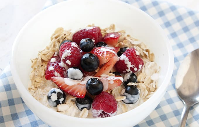 Healthy summer oatmeal