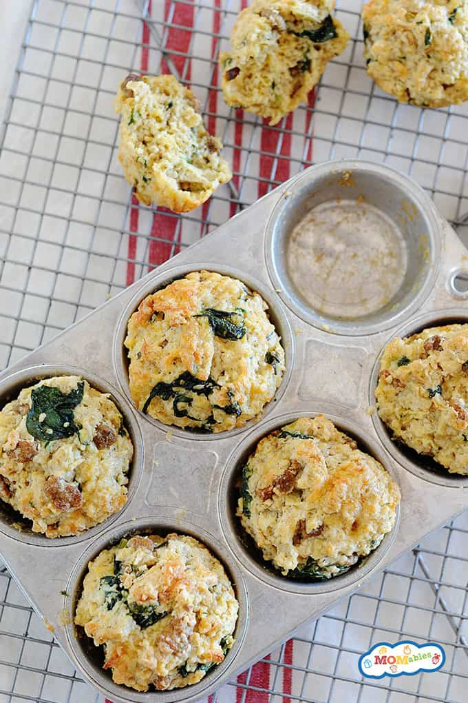 Sweet and Savory Apple Sausage Jumbo Breakfast Muffins