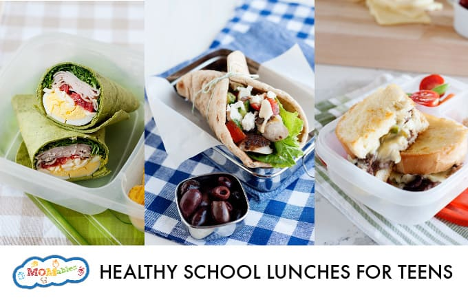5 healthy lunches for teenacgers